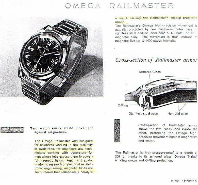 "mother of all partie VII (la saga de montres de plongée : les ""master"" Omega) 1959-Railmaster-2914-info"