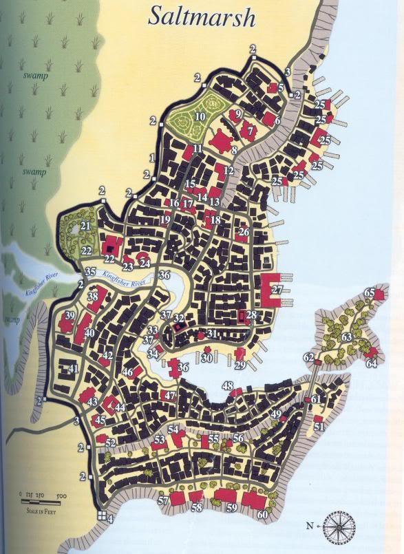 A Map of Saltmarsh (From the DMG 2) SALTMARSHMAP