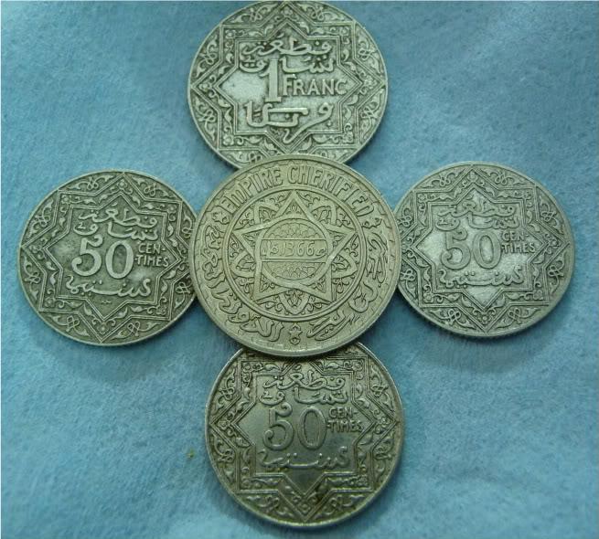 Moroccan coins P1020907