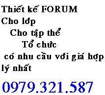 Thiết kế Forum giá rẻ