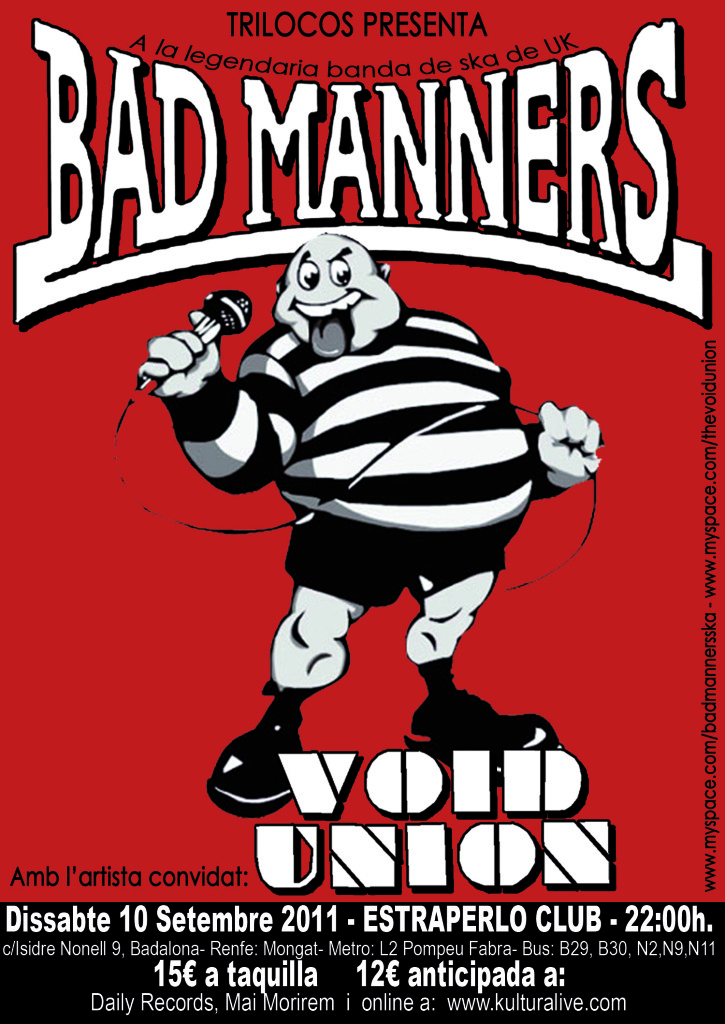 BAD MANNERS / SEPTIEMBRE 2011  BadMannersColorretocatbyme
