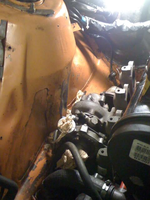 Motor vill inte ligga stilla vid gaspådarg, trångt om plats. Turboproblem2