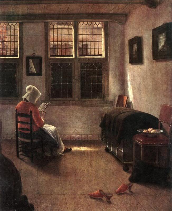 Princ. fond. de l'histoire de l'art - Heinrich Wölfflin ElingaPieterJanssen-Mujerleyendo-
