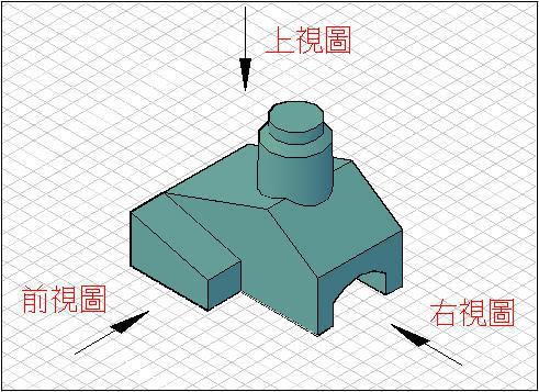 [知識]3D轉2D-轉成三視圖 J2002