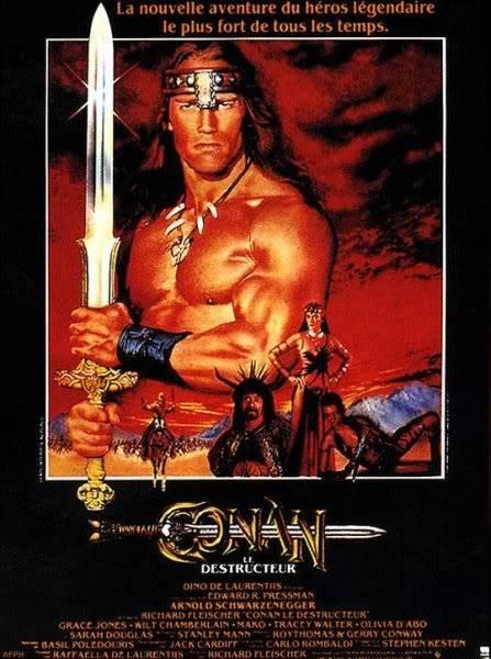 L'heroic fantasy au cinéma Conan-le-destructeur_affiche