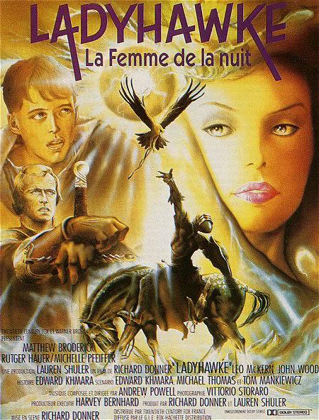L'heroic fantasy au cinéma Ladyhawke_affiche