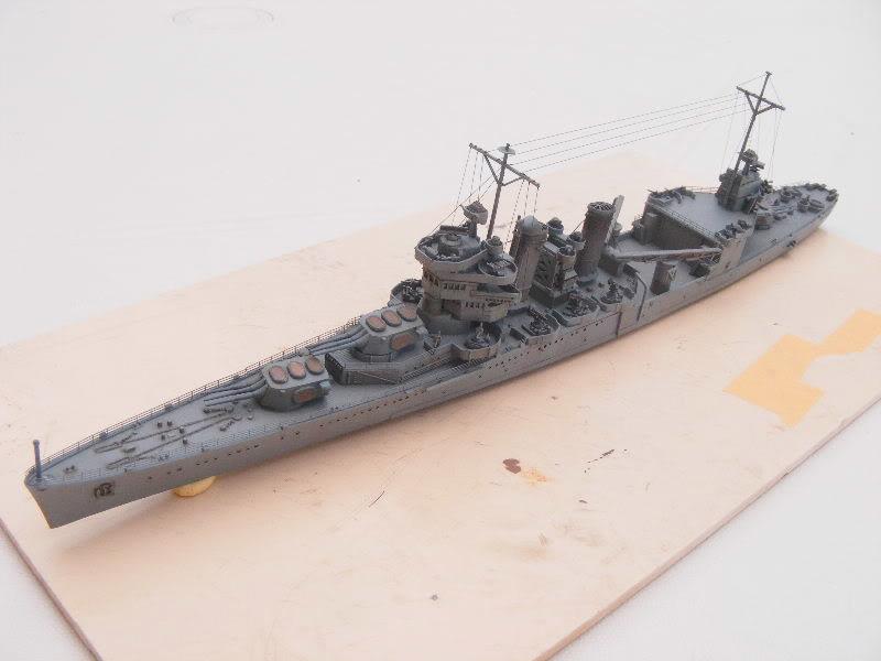 USS Minneapolis - Trumpeter 1/700ème Dessus1