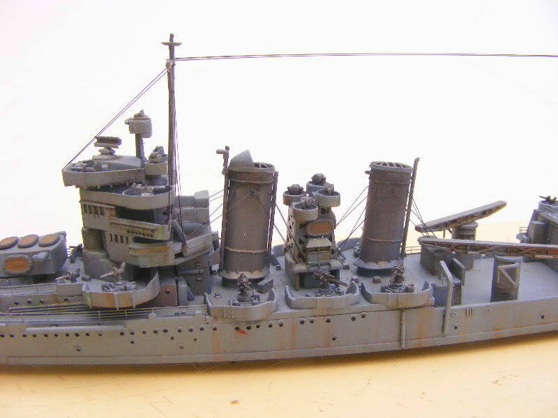 USS Minneapolis - Trumpeter 1/700ème Flanc1grosplan