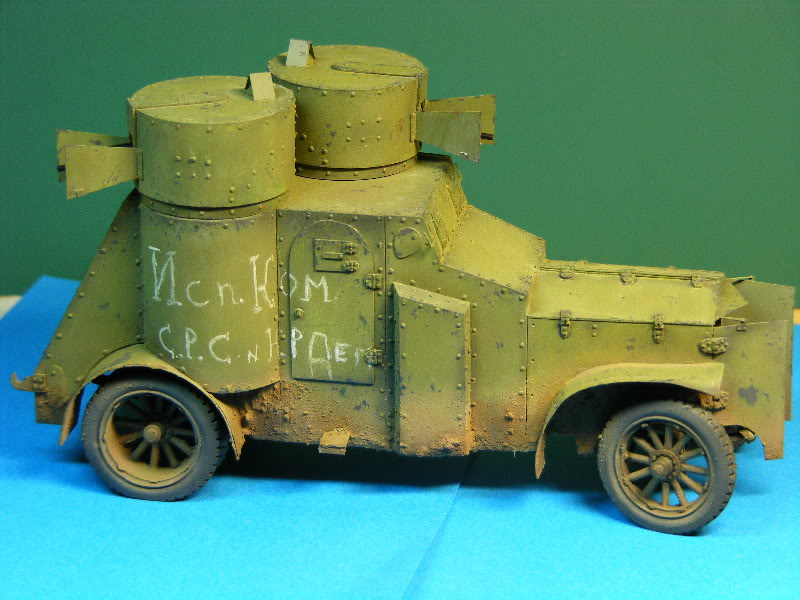 Armstrong-Whitworth- Fiat (Izorski) Russian armored Car WW I Patinefinie004