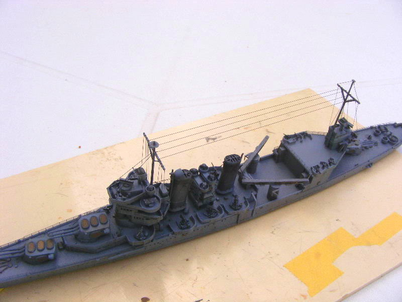 USS Minneapolis - Trumpeter 1/700ème Vueaerienne