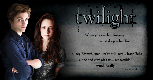 Rob's got to read it before anyone else! Twilight-3