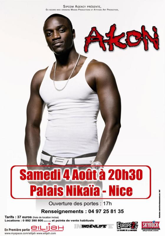 Jmi Sissoko en premiere partie d'Akon le 4 aout 2007 Akon