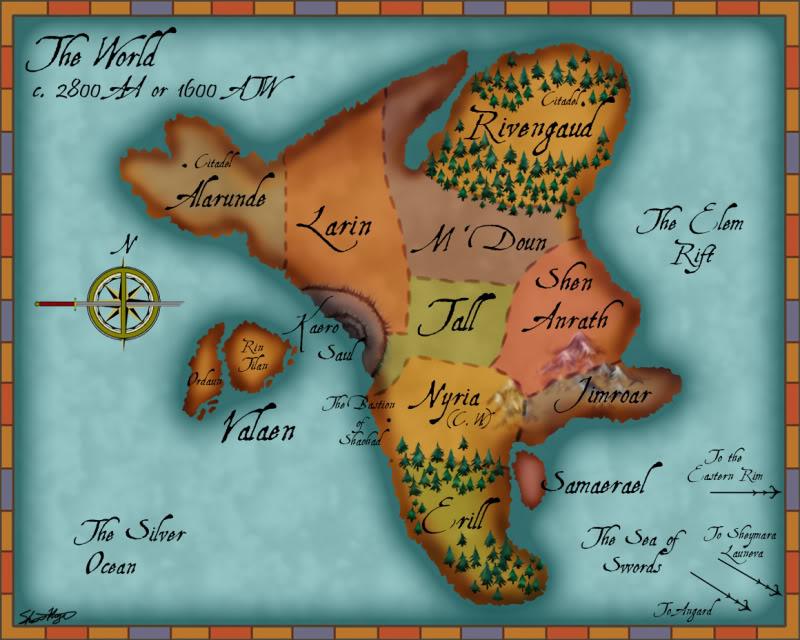 Mapa del continente WorldMap