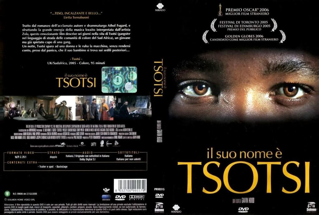 Tsotsi (South Africa, 2005) Winner of The Oscars TsotsiItalianDVDCover