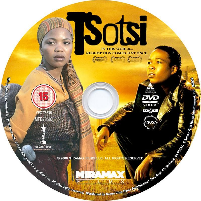 Tsotsi (South Africa, 2005) Winner of The Oscars Tsotsi_DVDsticker
