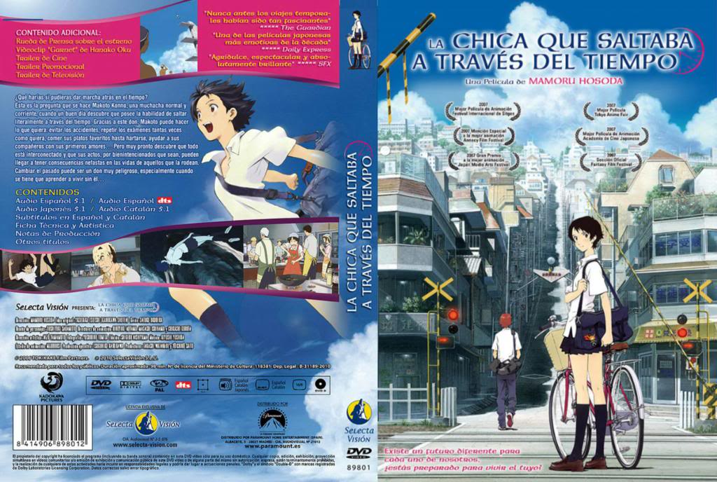 The Girl Who Leapt Through Time (2006) Toki Wo Kakeru Shôjo DVDcover-LaChicaTiempo