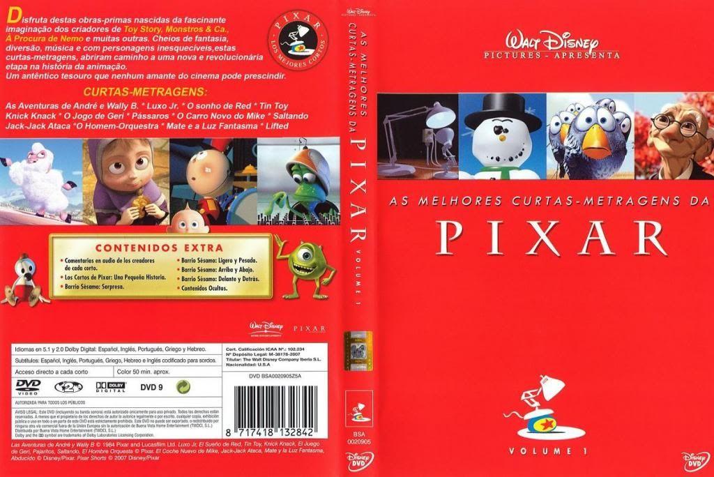 Pixar - Short films Collection - Part 01 PixarCollection-DVDcover