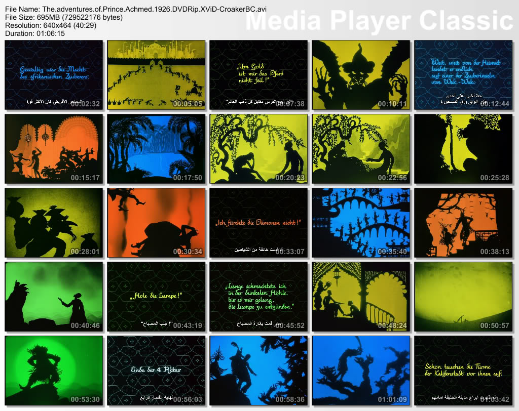 The adventures of Prince Achmed (1926) the 1st animated movie Ever Thumbs20100912
