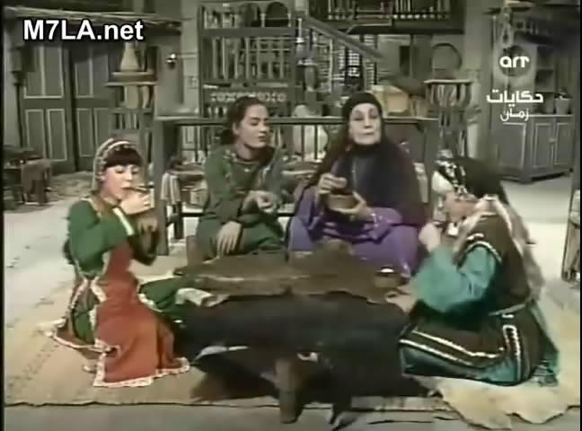 ألف ليلة وليلة (1987) التلات بـنـات : حليمة و كريمة وفطيمة 10rmvb_shot01
