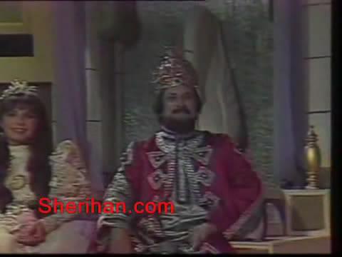 ألف ليلة وليلة (1986) الأميرة وردشان ومندو الزبال , وفوازير الأمثال 1avi_shot03