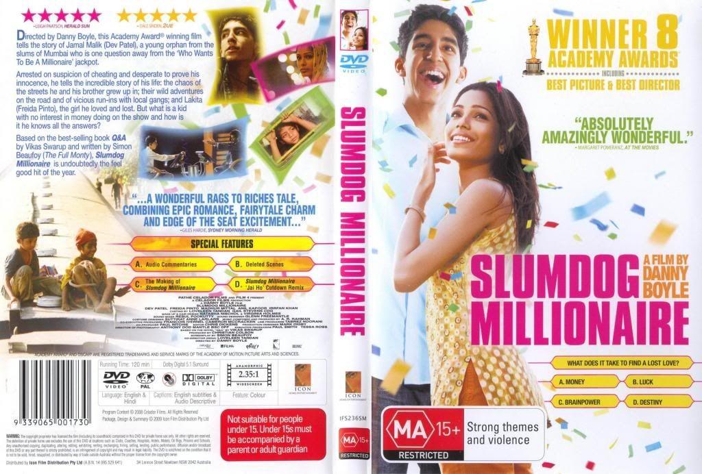 Slumdog Millionaire (2008) Oscars Movie SlumdogMillionaireDVDCover