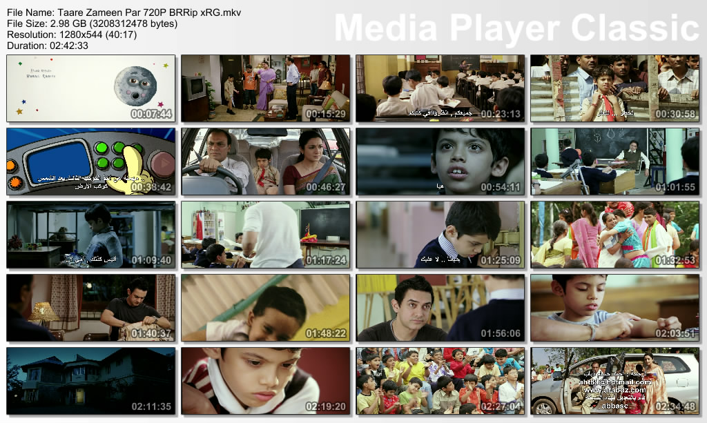 Taare Zameen Par 2007 Hindi 720P BRRip x264 E-SuB xRG Thumbs-TaarePar