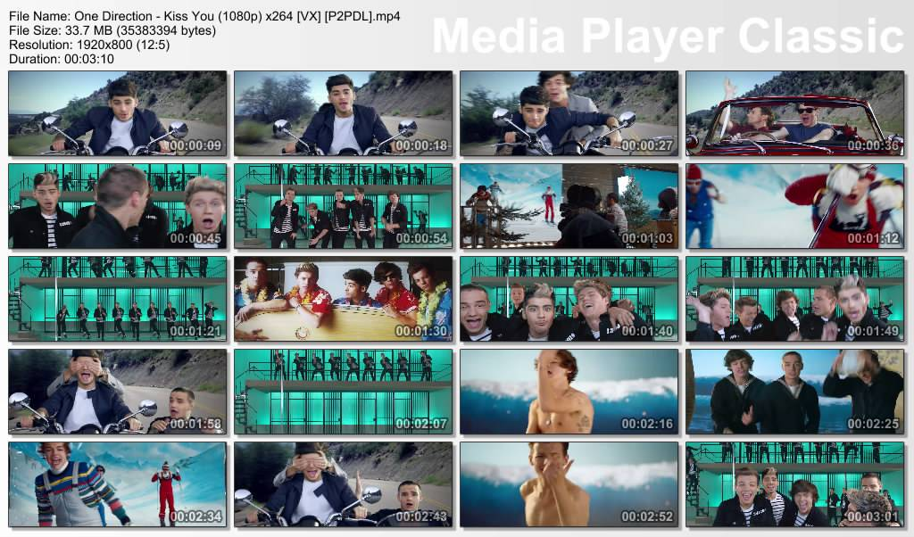 "British Boy Band ""One Direction"" a.k.a 1D 1D-KissYou_1080p"