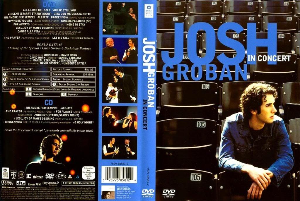 Josh Groban - Live in Concert (2002) Luv JoshGrobanLiveInConcert2002Cover