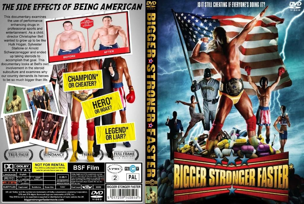 Bigger, Stronger, Faster (2008) plus Extra BiggerStrongerFasterBoxcover