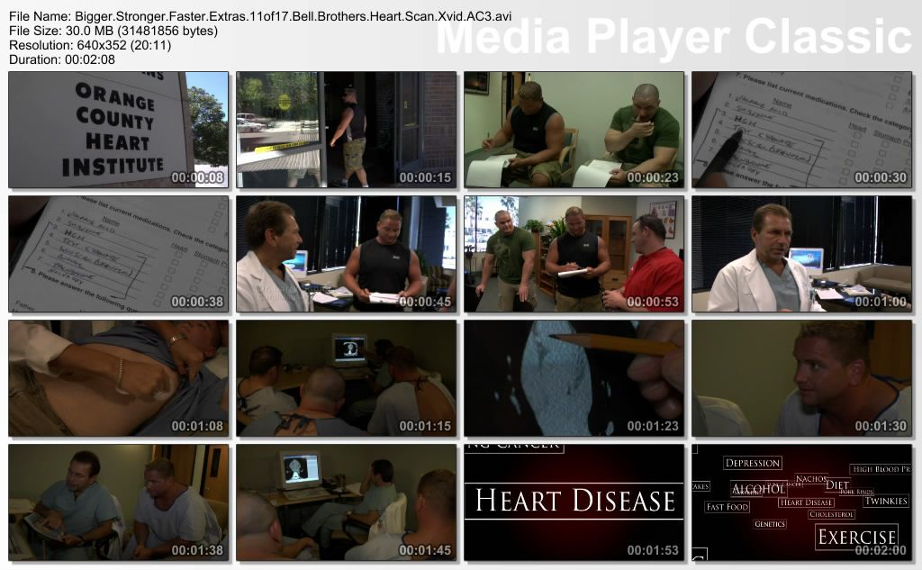 Bigger, Stronger, Faster (2008) plus Extra Thumbs-Extras11of17BellBrothersHeartScan
