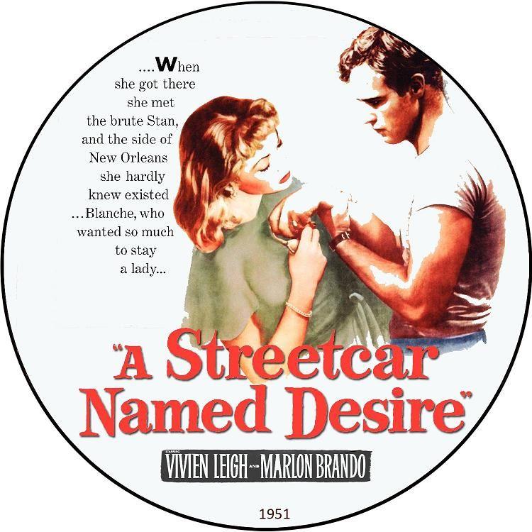A Streetcar named Desire (1951) Elia Kazan AStreetcarDesire-DVDsticker
