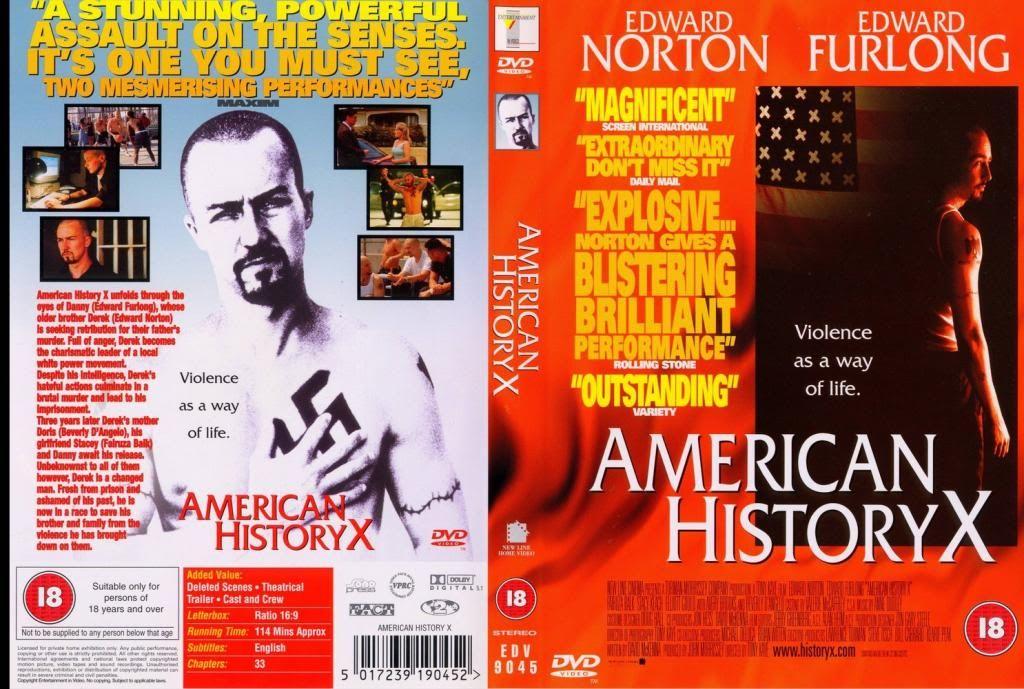 American History X (1998) Edward Norton AmericanHistoryX-DVDcover