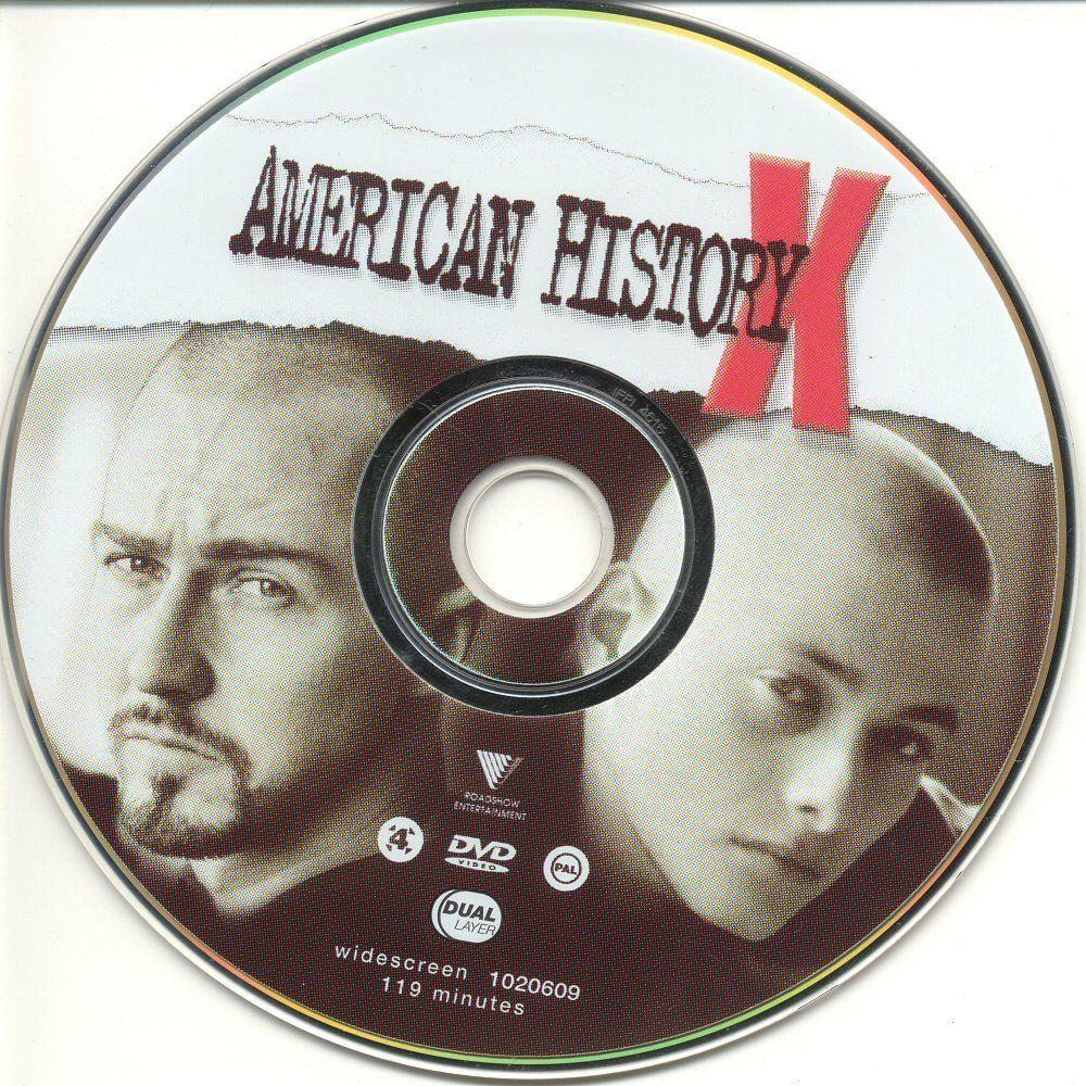 American History X (1998) Edward Norton AmericanHistoryX-DVDsticker