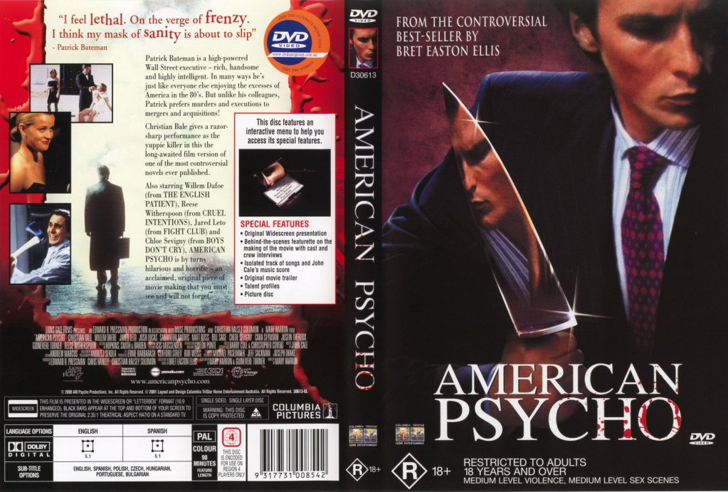 American Psycho Uncut Killer Collector's Edition COMPLETE DVD Rip by vladtepes3176 AmericanPsychoDVDcover