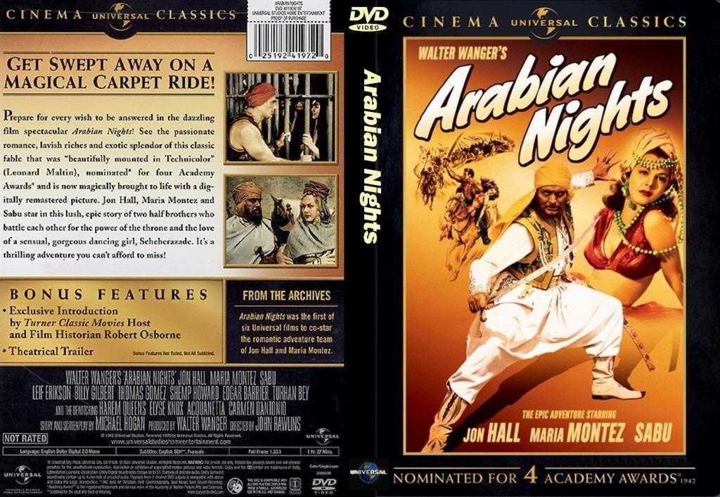 Arabian Nights (1942) Maria Montez ArabianNights-DVDcover