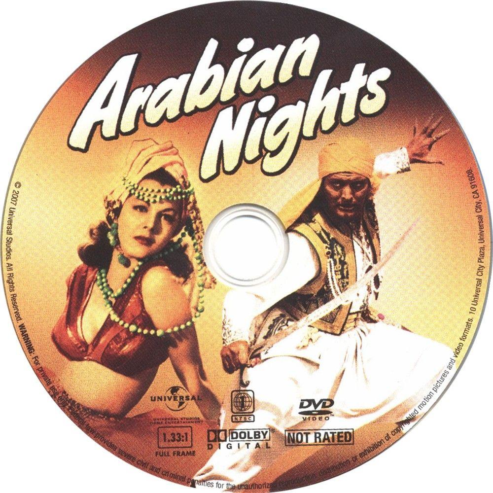 Arabian Nights (1942) Maria Montez ArabianNights-DVDsticker
