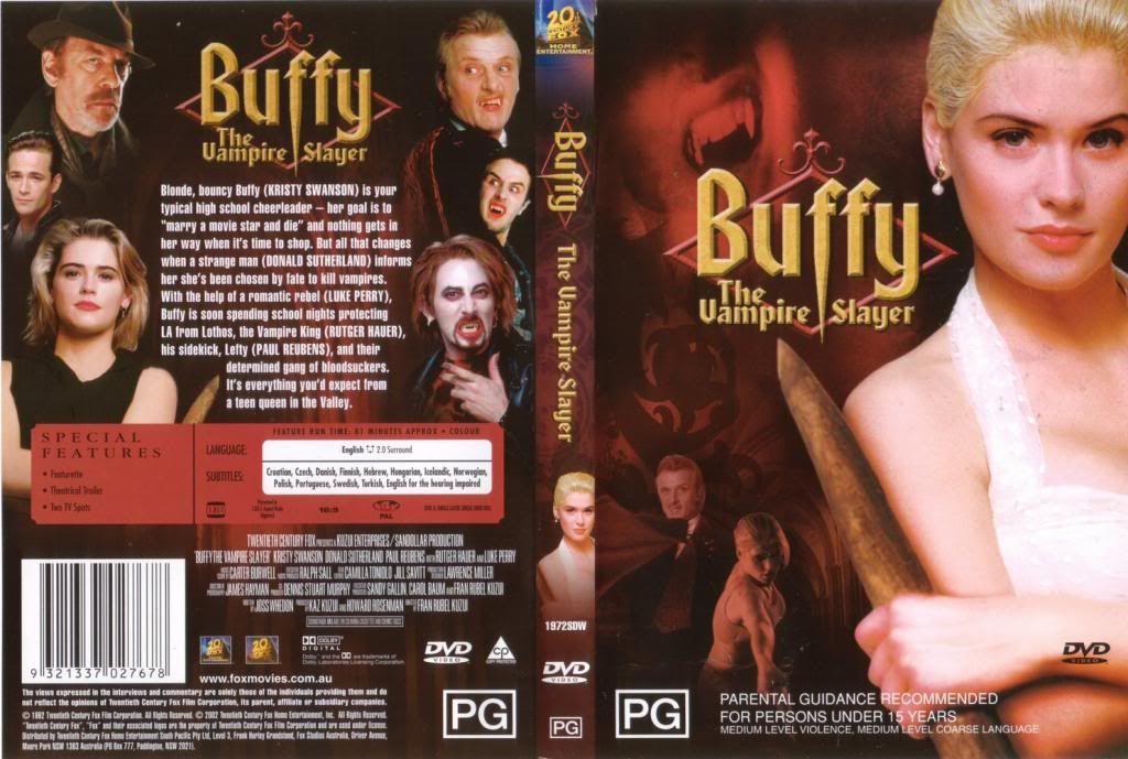 Buffy, The Vampire Slayer (1992) Kristy Swanson Buffy-AusDVDcover