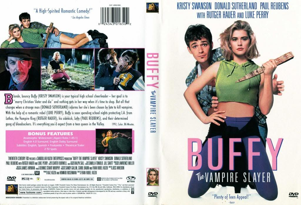 Buffy, The Vampire Slayer (1992) Kristy Swanson Buffy-DVDcover