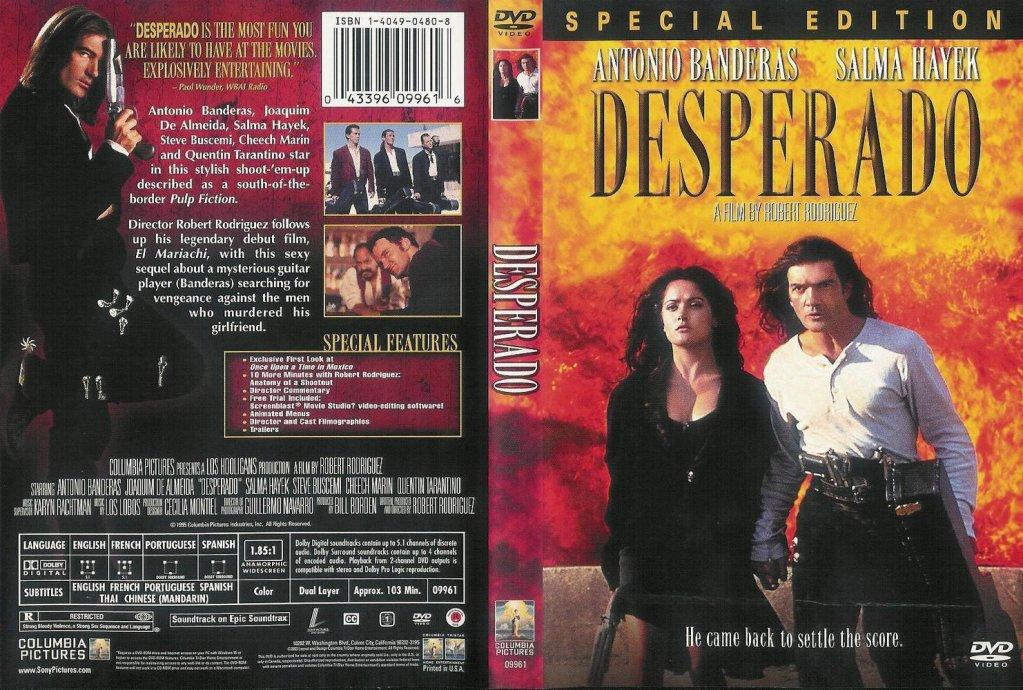 Desperado (1995) Antonio Banderas & Salma Hayek Desperado_DVDcover