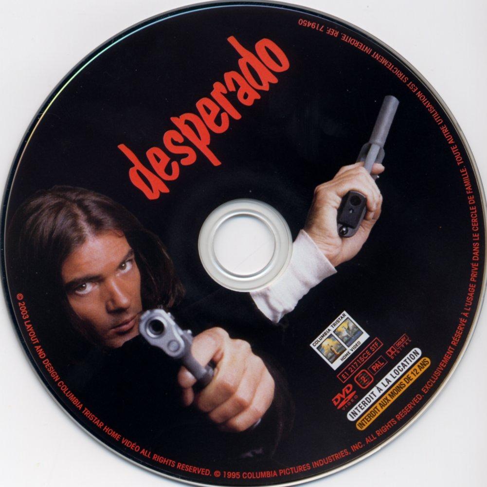 Desperado (1995) Antonio Banderas & Salma Hayek Desperado_DVDsticker
