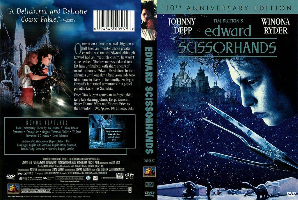 Edward Scissorhands (1990) Tim Burton Edward_Scissorhands_DVDCover