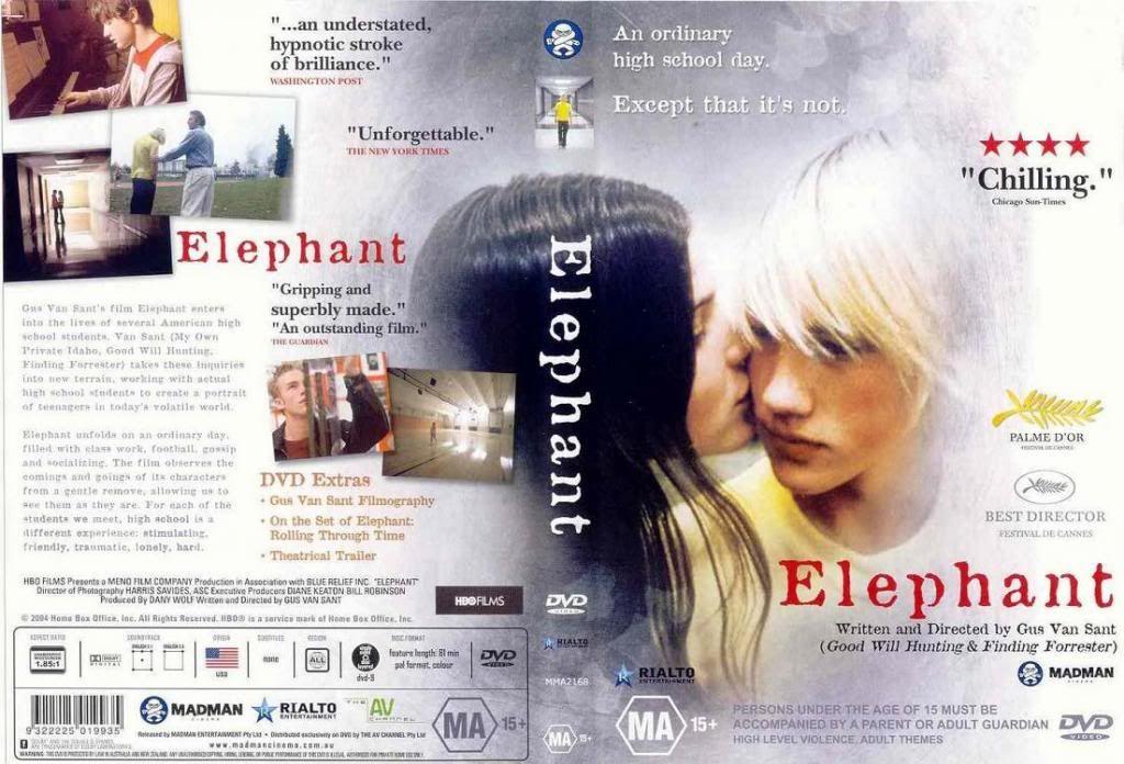 Elephant (2003) Gus Van Sant Elephant-DVVDCover