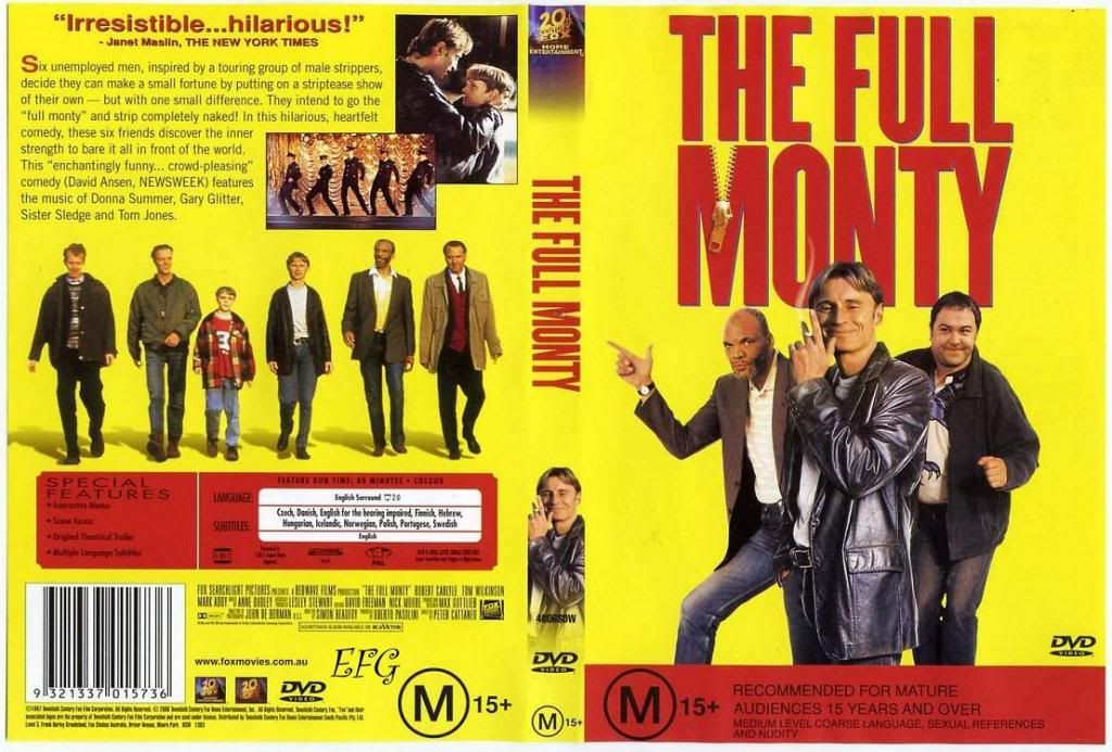 The Full Monty (1997)  the most succesful British comedy of 98 FullMonty-DVDcover