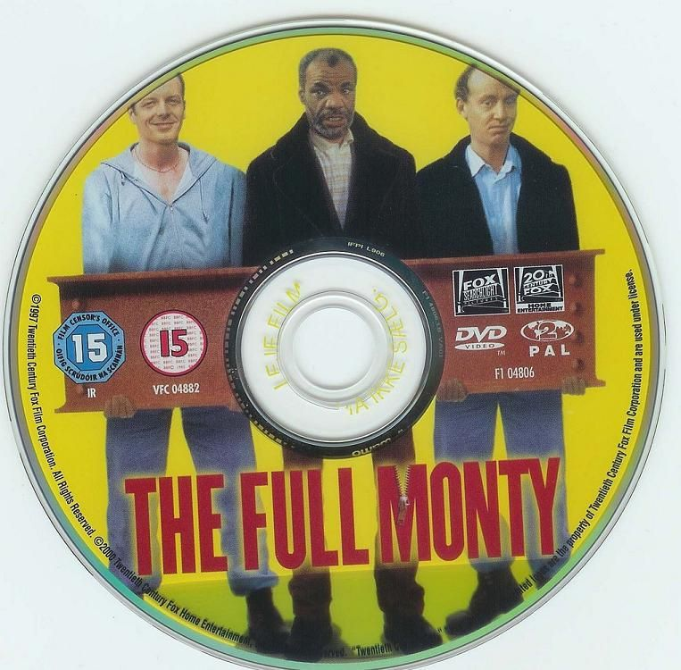The Full Monty (1997)  the most succesful British comedy of 98 FullMonty-DVDsticker