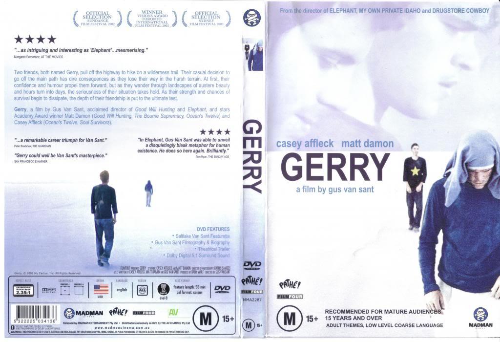 Gerry (2002) Gus Van Sant Gerry-DVDcover