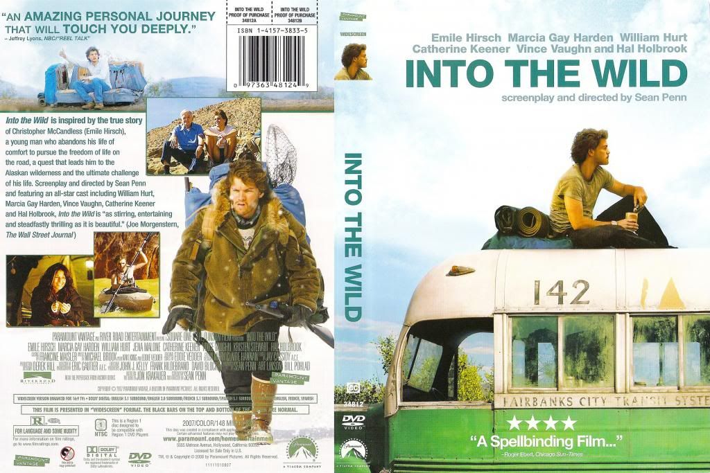 Into The Wild (2007) Emile Hirsch IntoTheWild-DVDcover