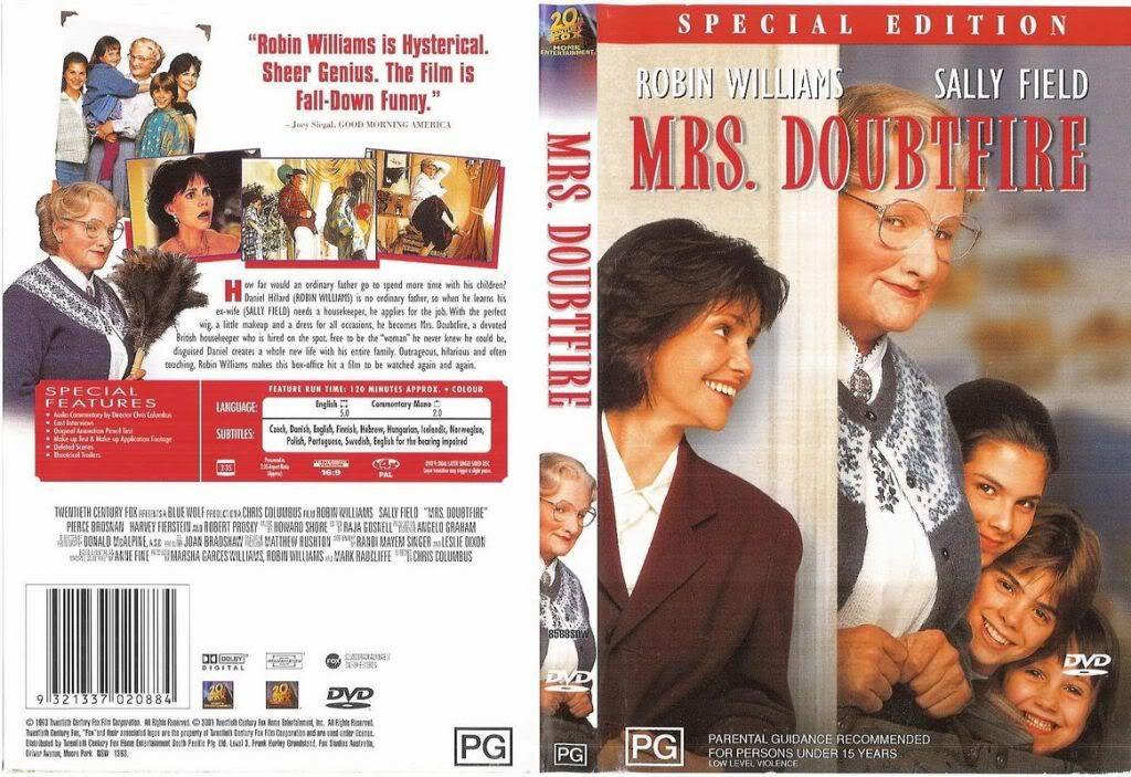 Mrs.Doubtfire (1993) Robin Williams MrsDoubtfire-DVDcover