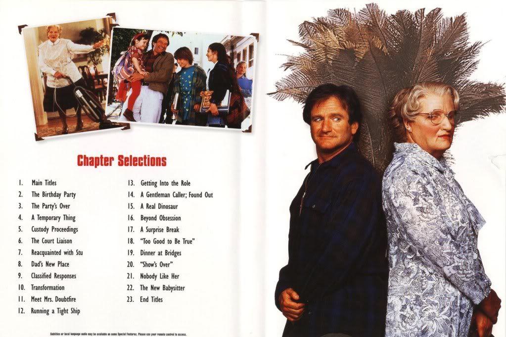 Mrs.Doubtfire (1993) Robin Williams MrsDoubtfire-DVDinside
