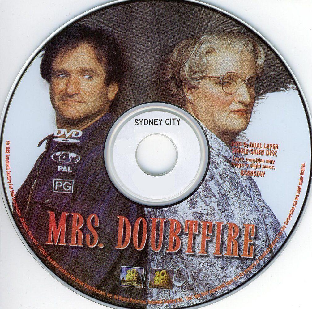 Mrs.Doubtfire (1993) Robin Williams MrsDoubtfire-DVDsticker