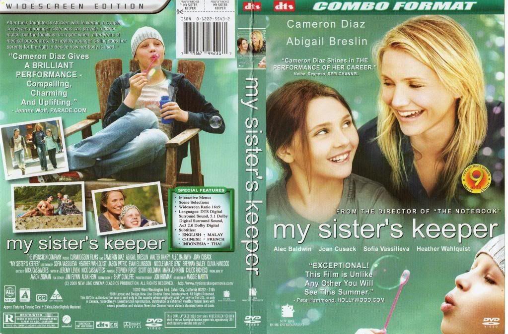 My Sister's Keeper (2009) BEST of 2009 MySistersKeeperDVD